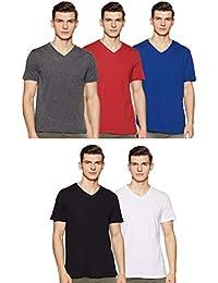 Amazon Brand - Symbol Men's T-Shirt (Pack of 5)