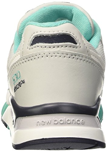 New Balance 530 Lifestyle Leather/Suede/Mesh, Scarpe da Ginnastica Donna Bianco (White/Grey)