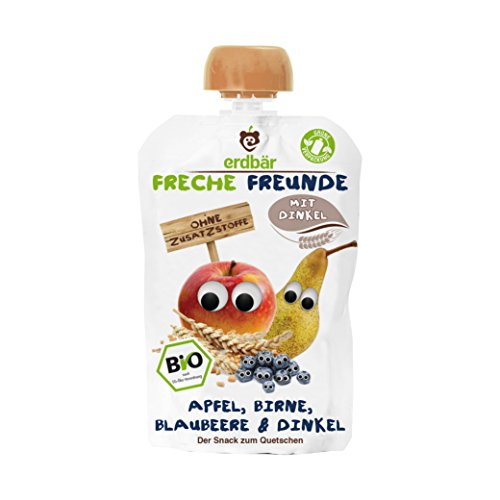 "Freche Freunde Bio Quetschie ""Apfel, Birne, Blaubeere & Dinkel"""