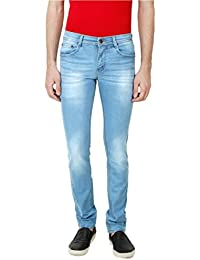 ANSH FASHION WEAR Men's Jeans - Contemporary Slim Fit Denims For Men - Washed Mid Rise Comfortable Jeans - B06XXKLPQ5