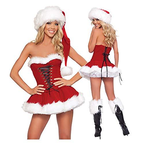 Toasye Stil Weihnachten Tube Top Set Kleidung GroßHandel Kleid Rock Frauen Arbeiten Reizvollen Netten (Nette Arbeit Kostüm)