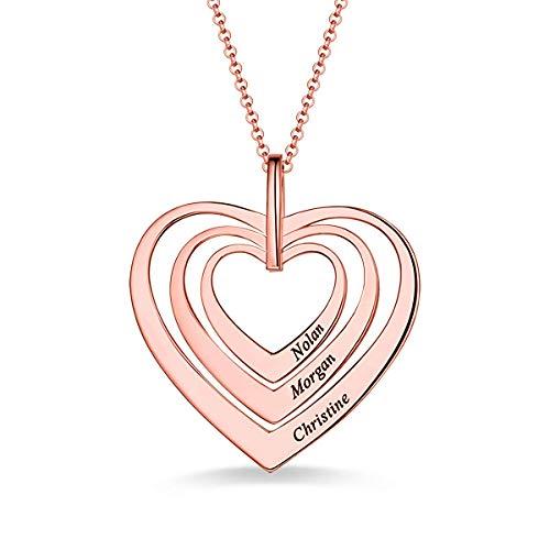 b4eeb806762d JF Collar Personalizado Nombre Familia 3 Nombres corazón