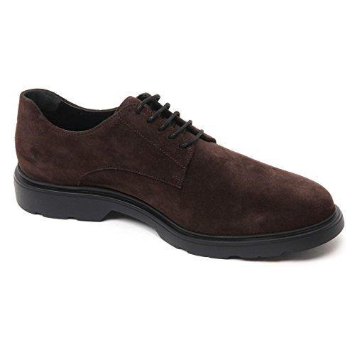 B7200 scarpa classica HOGAN H304 NEW ROUTE DERBY scarpe marrone shoe man Marrone