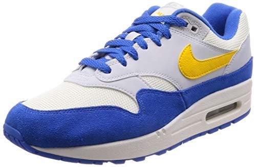 Nike Air Max 1, Men's Gymnastics Gymnastics Shoes, White (SailAmarilloPure PlatinumSi 108), 7 UK (41 EU)