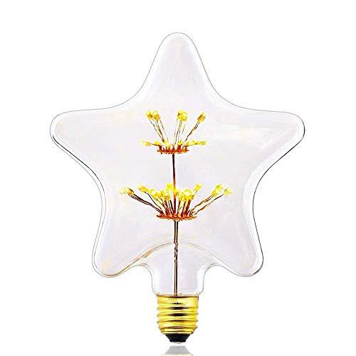 HomerLover ST1459-Z147 - Bombillas LED decorativas de cristal para chimenea, regulables, luz...