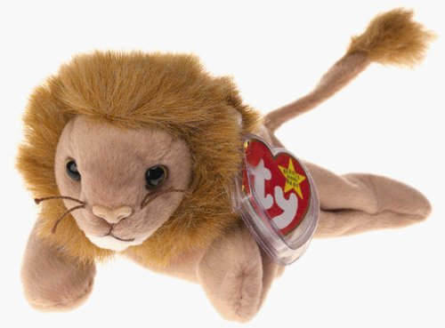 Ty Beanie Babies - Roary the Lion by TY~BEANIES CATS Vintage Beanie Babys