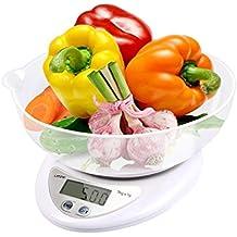 LATOW Báscula Digital para Cocina, Báscula de Alimentos Multifuncional, Precisa y Escala para Hornear