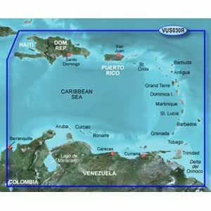 GARMIN VUS030R SOUTHEAST CARIBBEAN BLUECHART G2 VISION