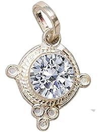 American Diamond Pendant In Silver 7.25 Ratii/Zircon/Lab Certified/Rudra Divine/Guaranteed 100% Original American...