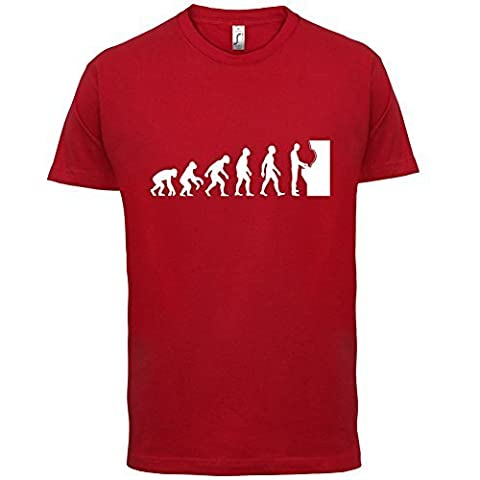T-shirt geek Evolution of Man - motif jeu d'arcade - homme - 10 coloris - Rouge - S