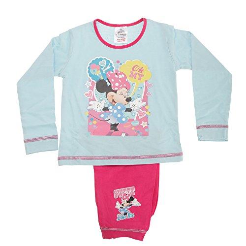 disney-minnie-mouse-yum-oh-my-completo-pigiama-a-maniche-lunghe-bambina-3-4-anni-blu-fucsia