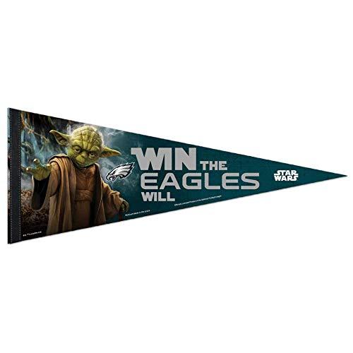 Bek Brands Fußballmannschaften Special Sammelflagge Wimpel mit Yoda, Chewbacca, Darth Vader, 30,5 x 76,2 cm Philadelphia Eagles (Philadelphia Eagles-wand-banner)
