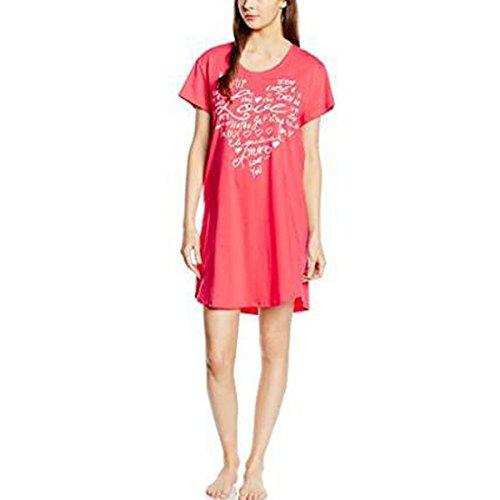 Grandi Dimensioni Ragazza Camicia Da Notte La Stampa Sudore Lounge Wear Pink