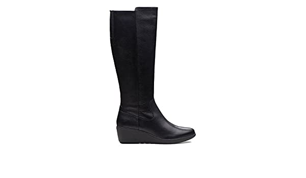 00320468c05a Clarks Un Tallara ESA Leather Boots in Black  Amazon.co.uk  Shoes   Bags