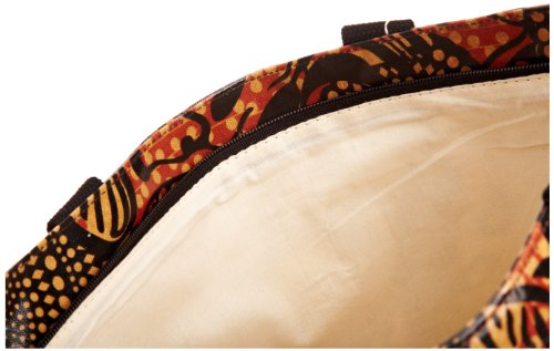 Re-uz Medium Oilcloth Tote Tribal, Borsa tote donna Arancione (Orange/Black)