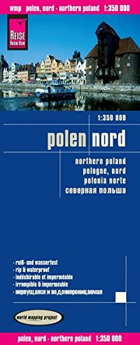 Polonia Norte, mapa de carreteras impermeable. Escala 1:350.000. Reise Know-How. por VV.AA.