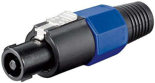 10 Stück PA Lautsprecher Stecker 4 polig mit Knickschutz 4.0mm 2