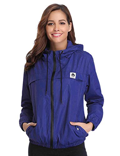 Aibrou Women Anorak, Lightweight Rainwear Raincoats Outdoor Hooded Cycling Running Windbreaker Jacket...