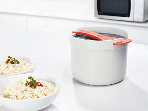 Joseph Joseph M-Cuisine Microwave Rice and Grain Cooker - Stone/Orange