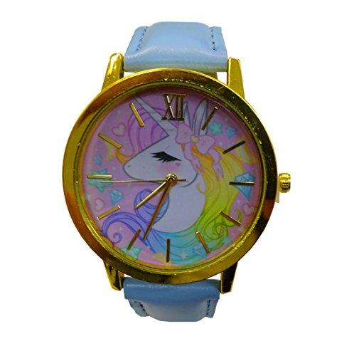 Reloj De Pulsera Mágica con arco iris Unicornio en tonos pastel