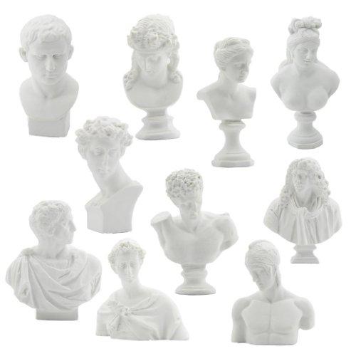lot-de-10-reproductions-de-pltre-de-moulage-en-rsine-statue-buste-tableau-21-30-blanc
