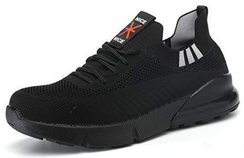 KENDOO Arbeitsschuhe Sicherheitsschuhe Herren Damen Socken Schuhe Leichte Atmungsaktive S3 Schutzschuhe Sportlich mit Stahlkappe & Stahlsohle
