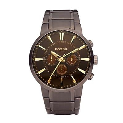 Reloj Fossil FS4357 de cuarzo para hombre con correa de acero inoxidable, color marrón de Fossil