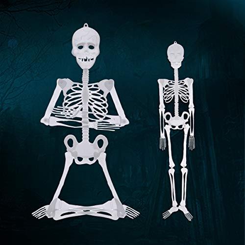 Bluelover 90Cm / 150Cm Halloween-Prop-Leuchtendes Menschliches Skelett Hängende Dekorationen - 90Cm