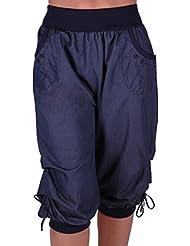 Chicago Damen Capri Crop Shorts Haremshosen der Frauen 3/4 Dreiviertelhose