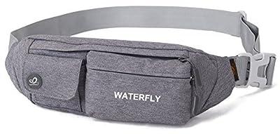 Sac banane WATERFLY mince et résistant à l'eau ; pour les voyages, ceinture de course, cyclisme randonnée, camping.