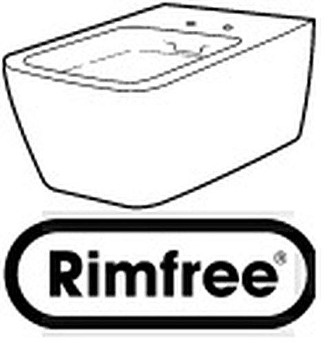 Preisvergleich Produktbild Keramag Tiefspül-WC it! wandhängend spülrandlos weiß(alpin)