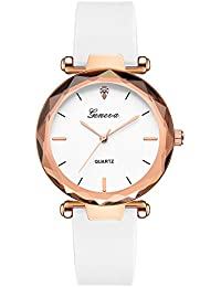 OHQ Reloj Fashion Womens Ladies Watches Geneva Silica Band Reloj De Pulsera De Cuarzo AnalóGico Pulsera Reloj Inteligente Marcar El Reloj Reloj ElectróNico