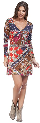 Peace & Love by Calao, Vestito Donna Multicolore