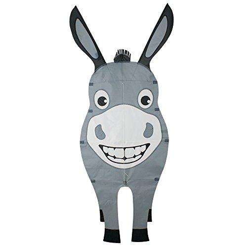 CIM Einleiner-Drachen - Cute Buddy Esel - für Kinder ab 3 Jahren - Abmessung: 57x137cm - inkl. Drachenschnur