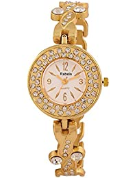 Rabela Women's Analogue Cream Dial Watch RAB-844