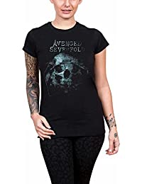 Avenged Sevenfold T Shirt Galaxy band logo Official Womens Skinny Fit Black