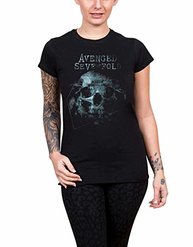Avenged Sevenfold T Shirt Galaxy band logo Nue offiziell damen Skinny Fit (Skinny-band-t-shirts)