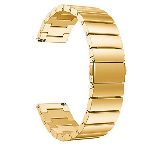 CarJTY ✯✯ Luxury Edelstahl Strap Wrist Band ✯✯ Ersatzarmband für Huawei Watch GT Elegante Verbindungsglieder aus Edelstahl für eine perfekte Passform - Metall Gewebten Gürtel