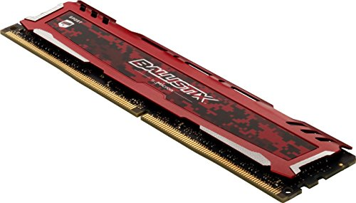 Ballistix Sport LT BLS16G4D32AESE -  Memoria RAM de 16 GB,  3200 MT/s,  PC4- 25600,  CL16,  Dual Rank x8,  DIMM,  288- Pin,  Rojo