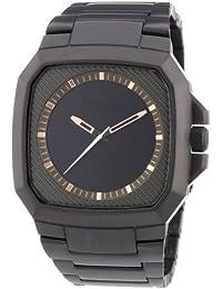 Nixon Herren-Armbanduhr Analog Quarz Edelstahl beschichtet A3081530-00