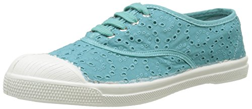 Turchese Anglaise Turquoise Turquoise Basse Bensimon Broderie Tennis 505 Sneaker Donna nfYF1