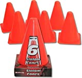 Nijdam Uni Set of 6 Slalom Cones, Orange, 18 cm