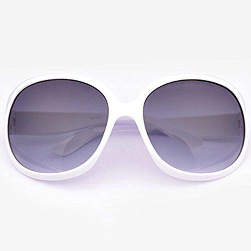 TD Sonnenbrille Damen Sonnenbrille, polarisiert Koreanisch Gläser Dünnsten Weiß