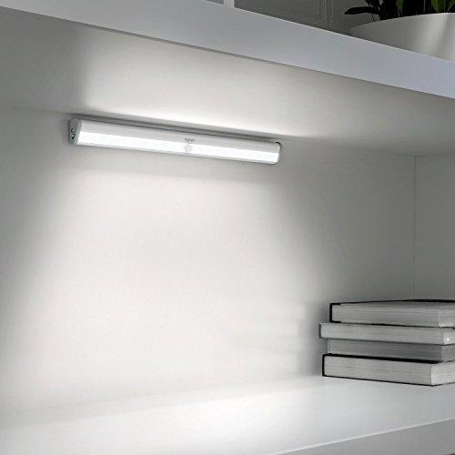 Aglaia Schrankleuchte 20 LEDs mit Bewegungssensor, USB Aufladbar mit eingebautem 1200mAh Akku, Automatisch und mit einem Magnetstreifen für Schublade, Schlafzimmer, Flur