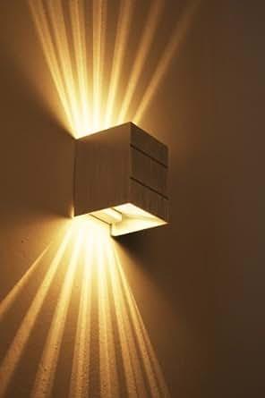 wandleuchte mit tollen lichteffekten wand lampe mit g9 fassung wandspot aus metall in alu. Black Bedroom Furniture Sets. Home Design Ideas