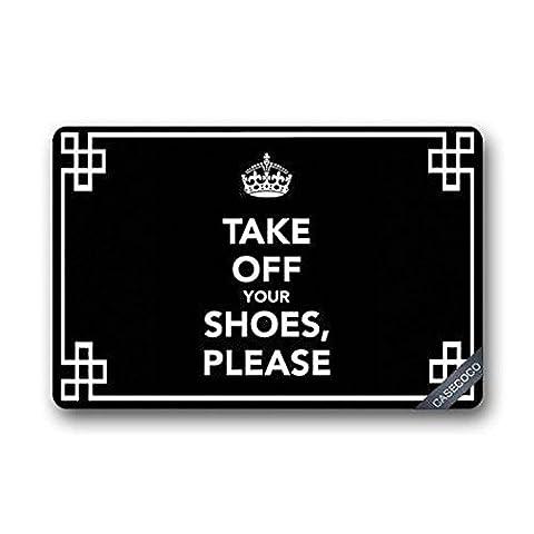 Doormat no.01décoratives doormats Custom Take Off Your Shoes doormat Coque Rug Outdoor Indoor Floor Mats non-slip Machine Washable Decor Bathroom Mats (23.6* 15.7)