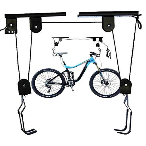 WGE Kajak-Hebemaschine Garage Speicher Kanu Lift 125 lb Kapazität & Fahrrad Deckenbehang Lagerung Flaschenzug 45 lb Kapazität,25KG (Kajak-boden Rack)
