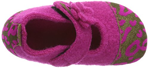 Living Kitzbühel Babyballerina Leopardenkappe, Chaussures souples bébé fille Rose (368 Fuchsia)