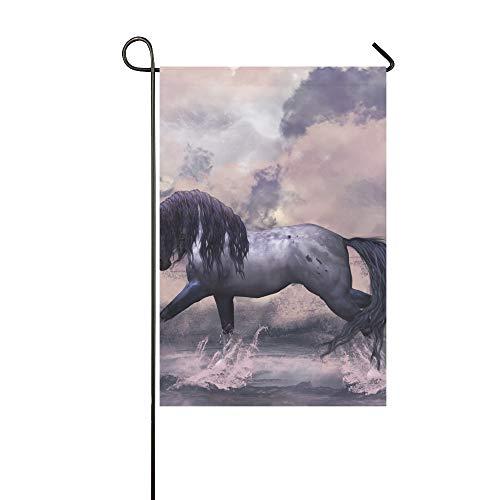 QuqUshop Dekorative Outdoor Double Sided Fantasy Horse Grußkarte Garten Flagge, Haus Yard Flagge, Garten Yard Dekorationen, saisonale Willkommen Outdoor Flagge 12 X 18 Zoll Frühling Sommer Geschenk -