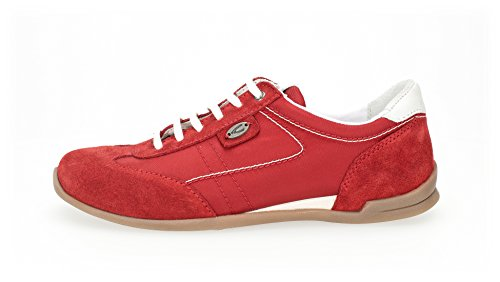 camel active Satellite 70, Sneakers Basses Femme Rouge (Scarlet/white)